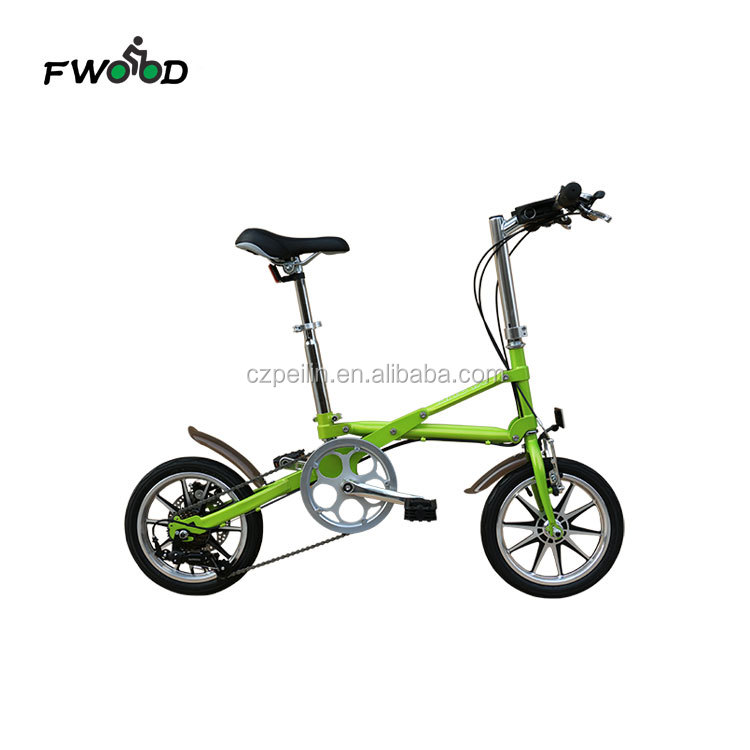 16 Inch carton steel frame adult lightweight mini folding bike made in china