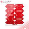 cheap newest design red hollow art sticker nail wraps