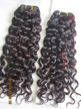 china hair supplier blend color curly human hair weave