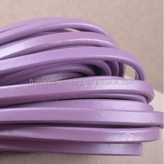 flat genuine leathers for bracelet jewelry