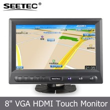 Battery plate DC 12v lcd display resistive touchscreen car rearview monitor with VGA HDMI input