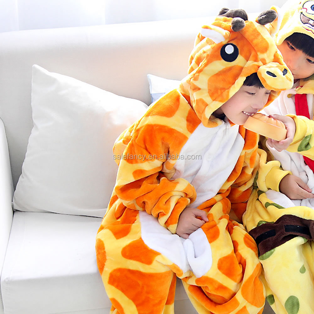 plus size kids tiger onesie animal footed pajamas for kids QWAO-8293