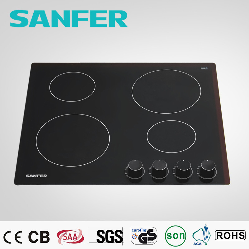 4 burner 2300 watt SANFER key product electric ceramic cook-top/Standing ceramic cook top