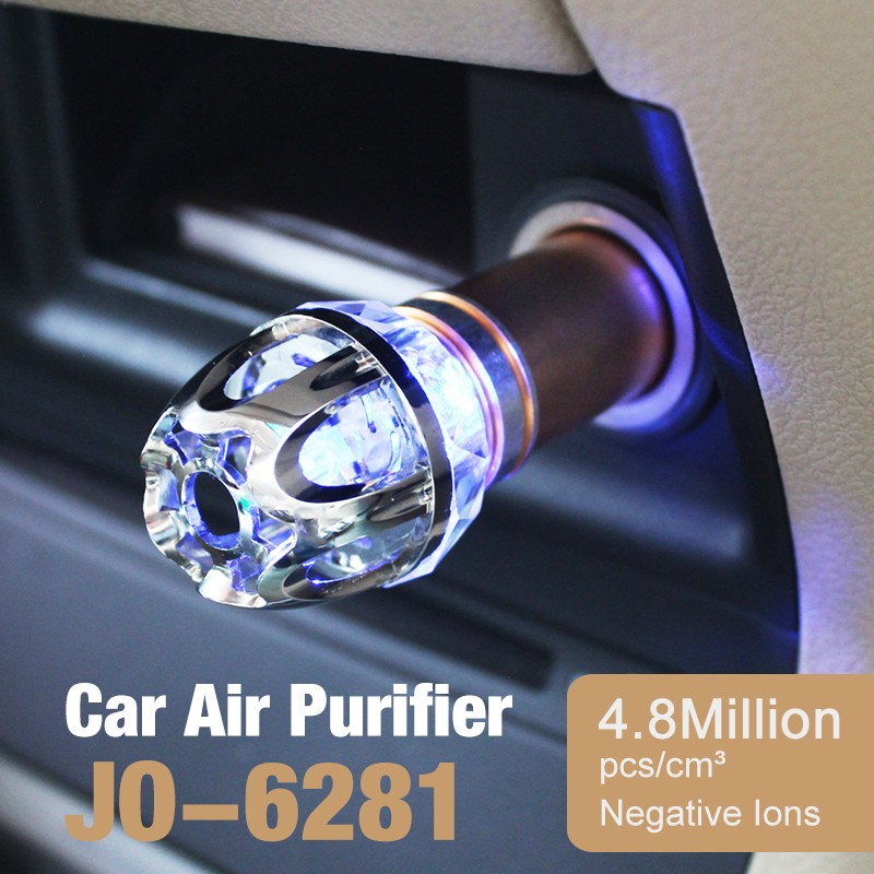 Best Selling Very Cheap Small Electronic Gift Items (Mini Crystal Car Air Purifier JO-6281)