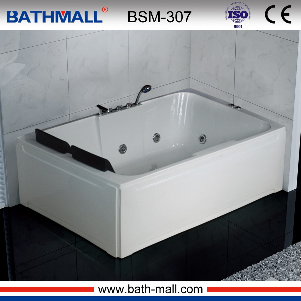 Low acrylic whirlpool bath tub price for 2 persons wholesale