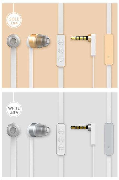 2017 NEW PATENT Design High Quality Sport Style Handsfree metal earphone