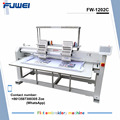 Fuwei largest embroidery area customized two heads flat embroidery machine with good quality
