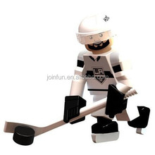 Custom plastic mini figures,Mini plastic sports figures,Plastic mini hockey player figurine