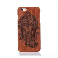 Factory Price Laser engraved custom Real wood phone case for iphone 5 5s se