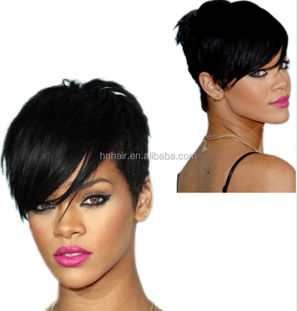 Very Cheap Heat Resistant Fashion Silky Straight Wave Brown Short Bob Synthetic Hair Wig