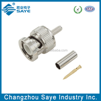 bnc male straight crimp rg-6 cable connector