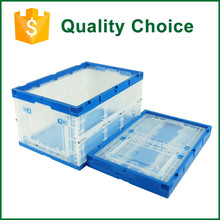 Foldable Logistic Nestable Plastic Storage Box With Handle