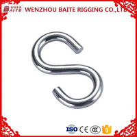 "HIGH QUALITY ZINC PLATED SPRING CLIP ""S"" HOOK"
