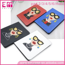 New Arrivals Personalized Leather Protecter Case for iPad,Lady Fashion Leather Cover Case for iPad 2/3/4/5/6 Mini