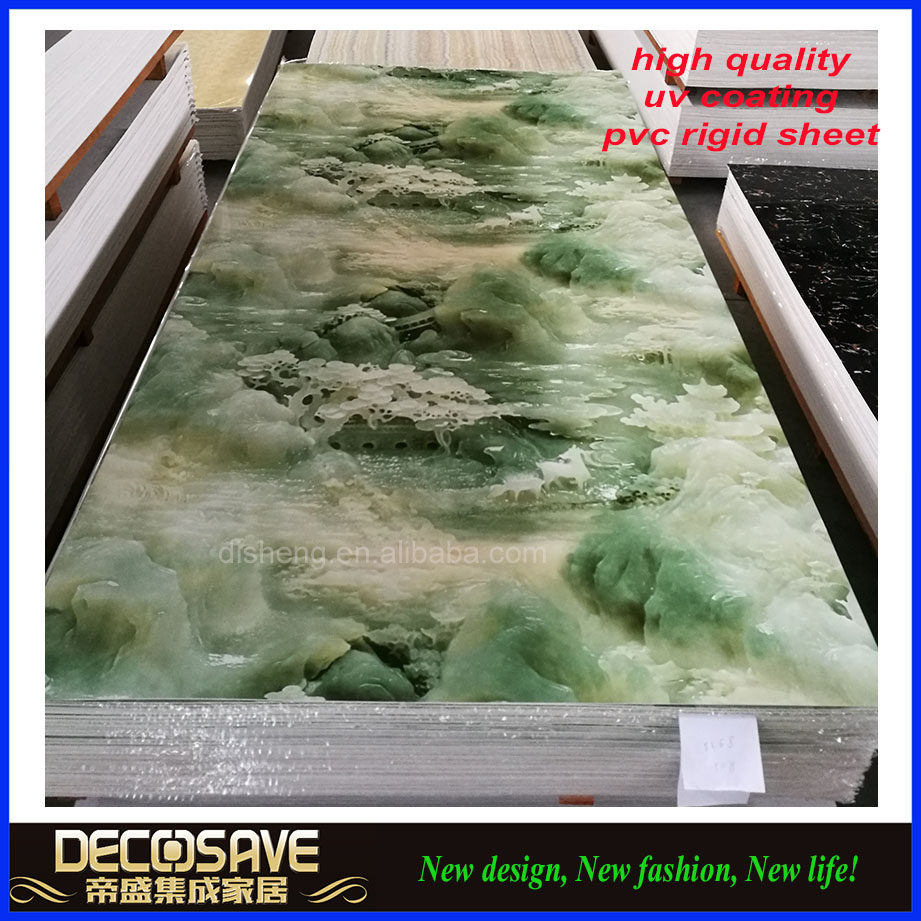 uv laminated 3mm hard pvc marble sheet