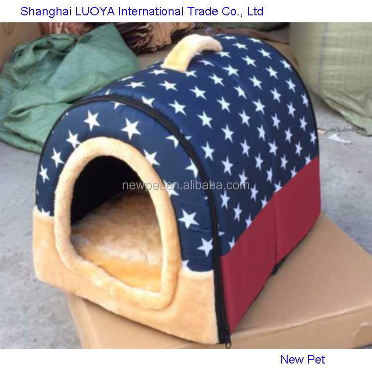 Direct factory fashion design soft pet bed double decker dog houses