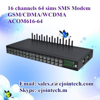 16 channel voip calling and sms sip gateway 16 sim card multi-port 3g usb modem pool