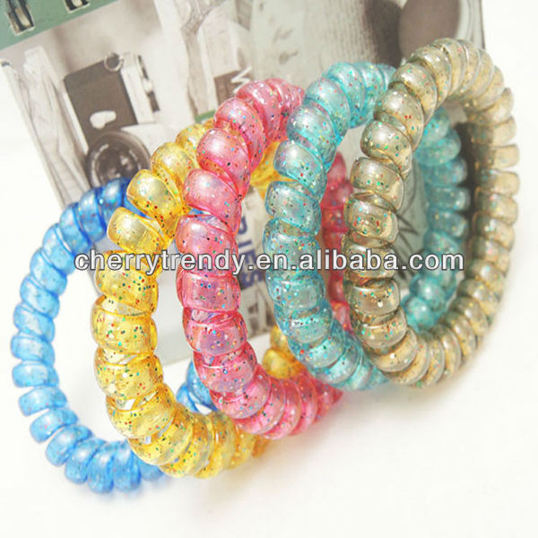 New Arrival Thailand Hot Selling Glitter Phone Wire Bands Hair Accessories For Bracelet