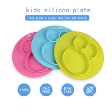 Factory Customized Private Label Kids Dinner Baby Silicone Baby Plate