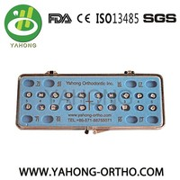 Orthodontic Metal Bondable Standard/Mini Edgewise Brackets, 0.018/0.022, CE/PDA/ISO