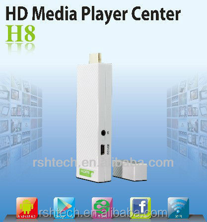 Dual Core Android 4.2 TV Box wifi display HDMI TV dongle,supports Miracast DLNA and airplay