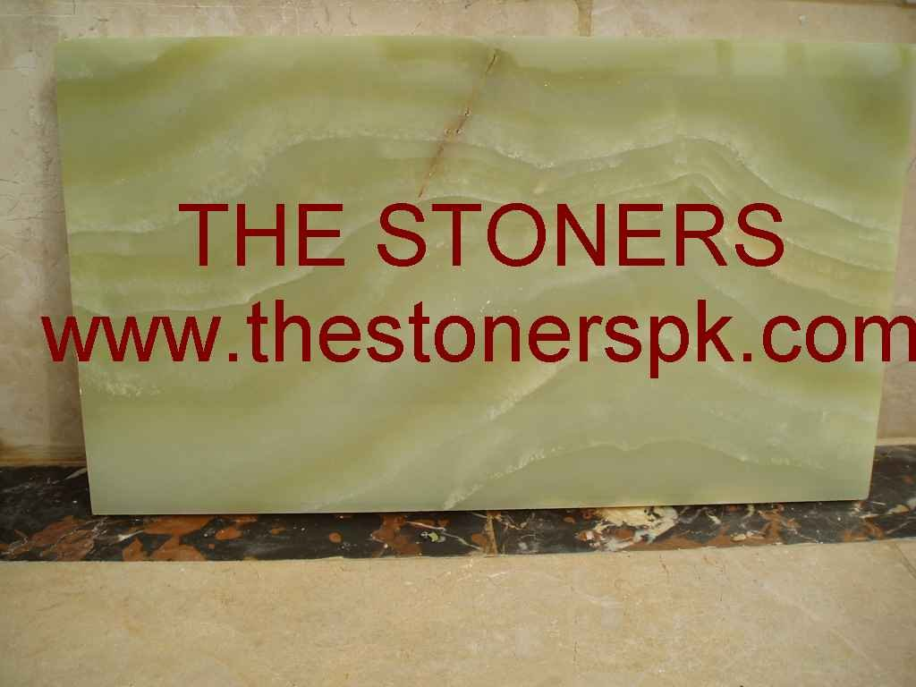 Pure Green Onyx Marble Blocks