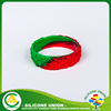 Fashion new novelty two color thick silicone bracelets