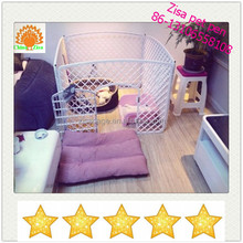 90x90x60 pink cheap plastic dog crate ,dog play pen made in zisa skype : yolandaking666
