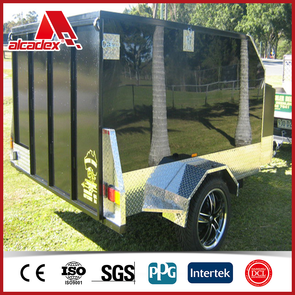 sound and heat insulated aluminium composite panel for trailer cladding