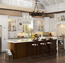 Cost-effective and style novel pecan wood kitchen cabinets