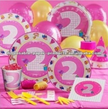 Girls 2nd Birthday Party Supplies Tableware Decorations Favors Candles And More