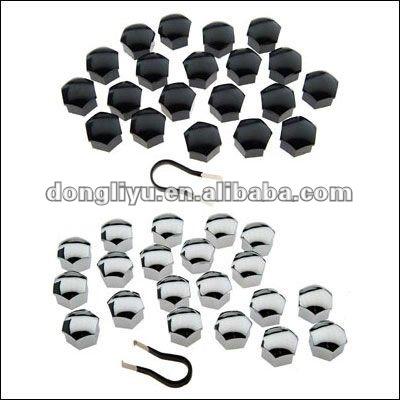 motorcycle decoration 19mm chrome color wheel nut cover