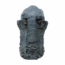 High quality garden decoration abstract bronze face outdoor sculpture