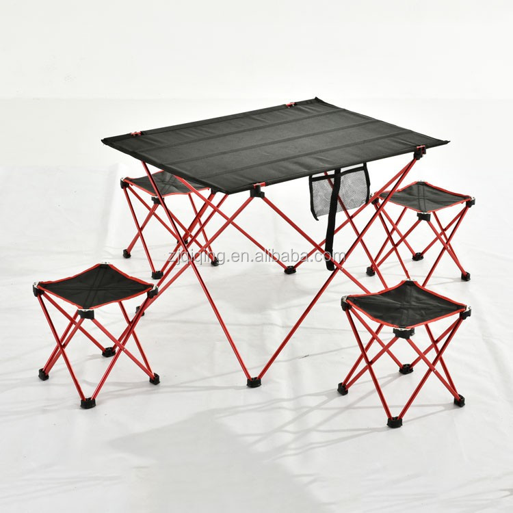 Portable aluminum folding table and chair set JF-02-8