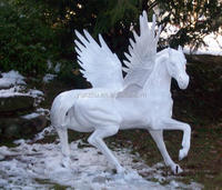 Cast Stone Hand Carved Pegasus statue sculpture