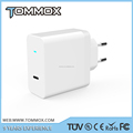 China Tommox Hot Sale Single Port Type C QC3.0 Wall charger