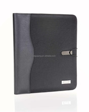 2015 hot new 2-in-1leather portfolio with string and power bank and ipad tablet case