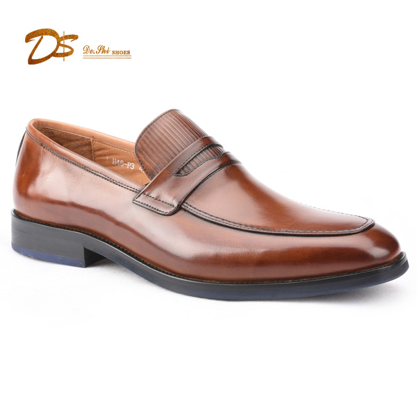 Wholesale Good Designer Penny Loafer Comfortable High Quality Men Genuine Leather Shoes