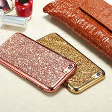 Luxury Glitter Bling Diamond TPU Soft Gel Phone Case Cover For iPhone 5 6 6 Plus 7 7 Plus 8