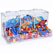 cheap in safety acrylic bulk candy bin with scoop