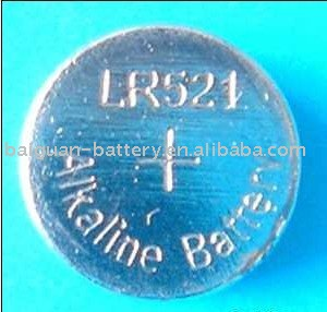 LR521 buttom cell battery