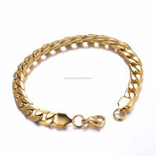 High Quality Shiny Polished Stainless Steel Gold Cuban Cuba Link Necklace Chain