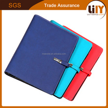 High Quality Hard Cover PU Leather 6 Ring Paper Reused Planner Notebook
