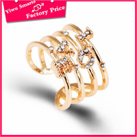 fashion jewelry below 1 dollar wholesale 14k gold plated finger ring diamond full ring design for women with price