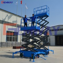 Adjustable hydraulic movable scissor lift/work platform with good quality