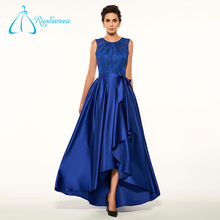 Button Satin Sashes Lace Best Formal Plus Size Evening Dress