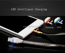 LED Light 2-in-1 Sync Data Charger Cable For Android & iOS Smart Phone