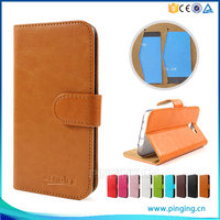 Classic Crystal Grain Card Slot PU Leather Case Cover For ZTE Blade A462