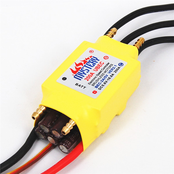 In Stock 2-7S Lipo 200A ESC 5V/5A UBEC Brushless Speed Controller ESC For RC Boat UBEC200A/S With Water Cooler
