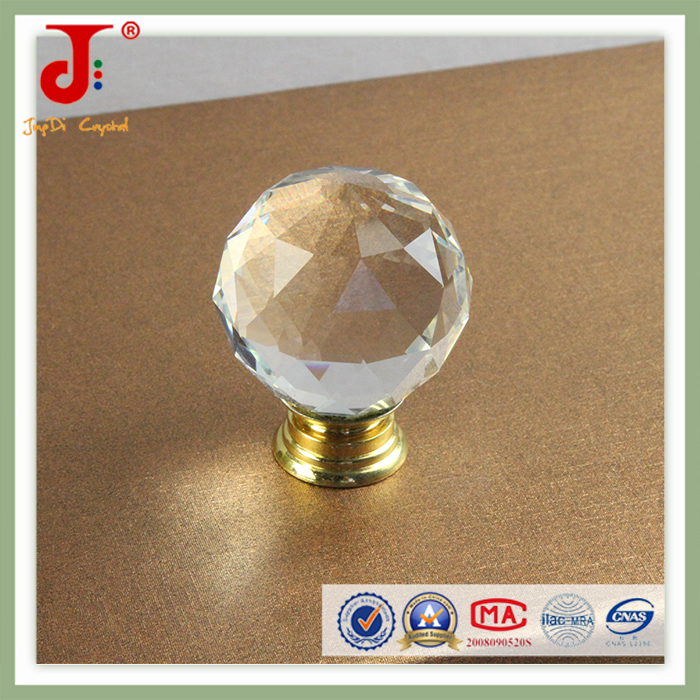 New design crystal clear glass door knobs for drawer kitchen cabinet dresser with different colors